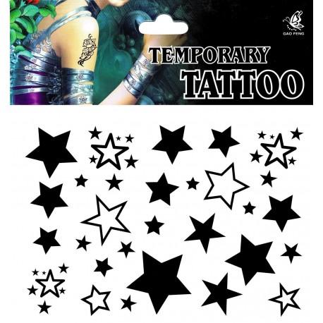 SternTattoo 1 Bogen Fake Tattoo - einmal tatoos temporary Totenkopf Piraten
