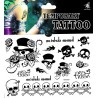 Skull Totenkopf Tattoo 1 Bogen Fake Tattoo (15,5cm x 10,5cm )- einmal tatoos temporary