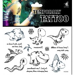 Dino Tattoos 1 Bogen Fake Tattoo (15,5cm x 10,5cm ) - einmal tatoos temporary