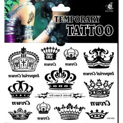 Kronen Tattoos 1 Bogen Fake Tattoo (15,5cm x 11cm ) - einmal tatoos temporary