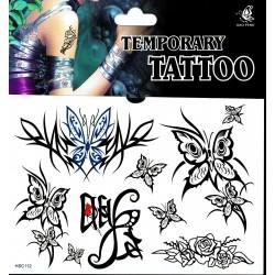 Schmetterling Tattoos 1 Bogen Fake Tattoo (15,3cm x 10,8cm ) - einmal tatoos temporary