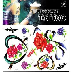 Rosen Tattoos 1 Bogen Fake Tattoo (15,5cm x 11cm ) - einmal tatoos temporary