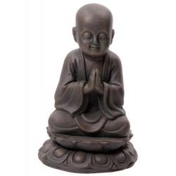 Mönch Figur junger Buddha (20,5x13x13cm) Bronze-Optik aus Polyresin -  Buddafigur, feng shui, Buddhismus