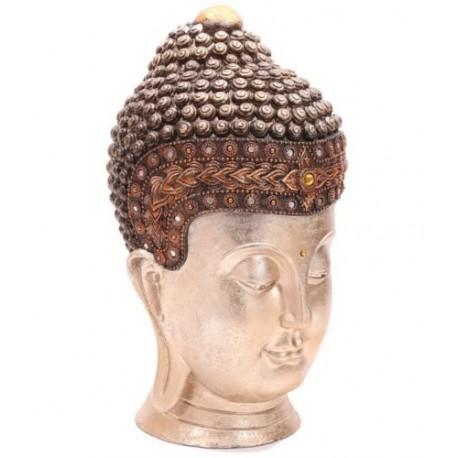 Große Thai Buddha Kopf  (41x23x24cm) aus Polyresin - aufwendig verarbeitet