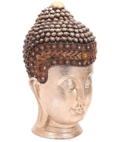 Großer Thai Buddha Kopf  (41x23x24cm) - aufwendig verarbeitet XL BuddaKopf Statue buddhakopf