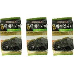 3 Algensnack a 5g Seetang geröstet & gewürzt Meeresalge algenblätter noriblätter
