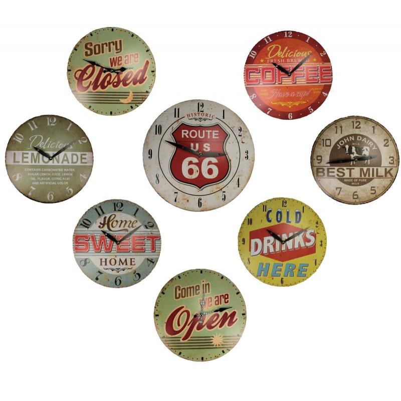 Wanduhr Retrolook Vintage Quarzuhr Dekouhr Uhr American Style Küchenuhr