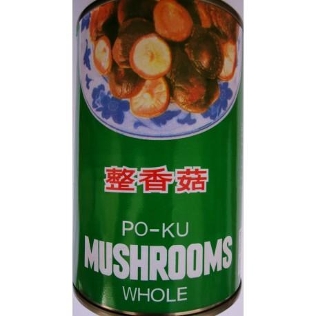 Po-Ku Shiitake Pilze asiatische chinesische Mushrooms König der Pilze 284g Ganz