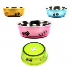 Fressnapf Wassernapf Hund/Katze Edelstahl (Ø21cm, H: 7cm) in 4 Farben Hundenapf Katzennapf Futternapf
