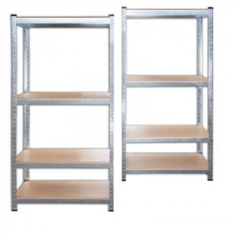 2x Lagerregal (80cm x 160cm x 40cm) aus Stahl  Schwerlastregal je 520 kg, Kellerregal