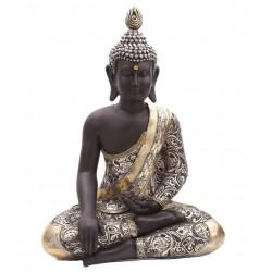 Großer Thai Buddha (66x47x25cm) - aufwendig verarbeitet XL Statue budda Figur