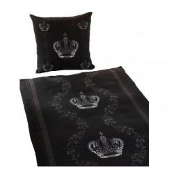 Bettwäschegarnituren 2tlg. Microfaser Gold Kronen-DesignTop-Qualität Bettbezug 135x200 cm/Kissen 80x80 cm