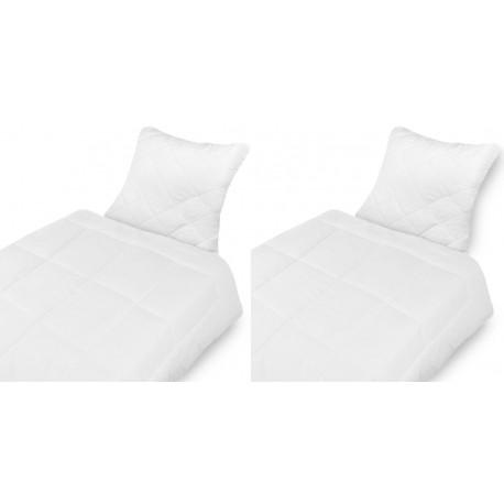 Qualitäts Microfaser Bettenset Kopfkissen (80x80 cm) + Bettdecke (135x200cm) Wohlfühlset waschbar