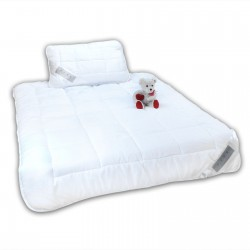Kinderbett Bettenset für Kinder Kopfkissen (40x60)+ Bettdecke (135x100) kinderdecke Kinderkissen Allergiker geeignet