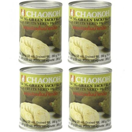 4x Jackfrucht in Wasser gesamt 2160g/Abtropfgew. 1296g Fleischersatz vegetarisch vegan grüne jackbaumfrucht