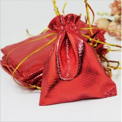 roter Organza Schmuckbeutel (7cm x 9cm), Schmuckverpackung, Geschenkverpackung, Schmucksäckchen