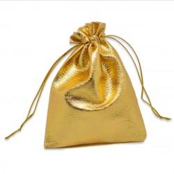gold Schmuckbeutel (10cm x 12cm), Schmuckverpackung, Geschenkverpackung, Schmucksäckchen