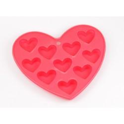 Herz Pralinenform Silikon Backform ca. 15cm x 14cm Eiswürfelform 10 Herzen
