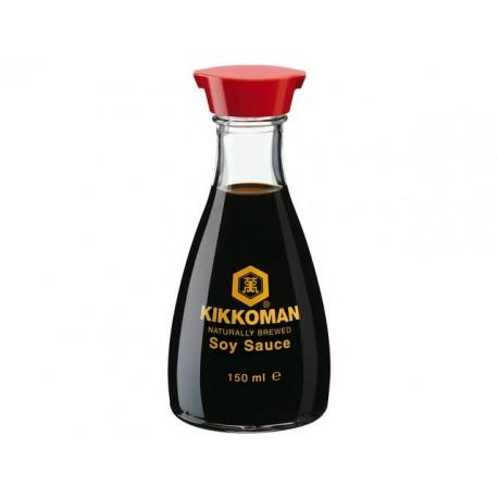 Premium Sojasauce 150ml Flasche KIKKOMAN natürlich gebraut ohne Zusätze