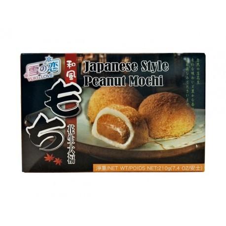 japanischer Reiskuchen Erdnuss Mochi 210g/6 Stück Spezialität Nachtisch Dessert