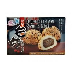 japanischer Reiskuchen Sesam Mochi 210g/6 Stück Spezialität Nachtisch Dessert