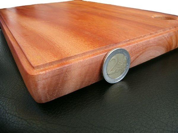Schneidebrett massiv Palmholz echtes Holz Brett Küchenbrett 30x20x2,8cm holzbrettchen