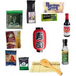 Sushipaket 19tlg. mit Lampion Starter Sushi Set sushiset Starterpaket Sushikit