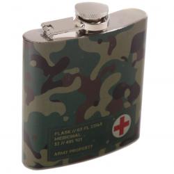 Flachmann Edelstahl camouflage Taschenflasche Arzneiflasche Nato Armee Tarnmuster