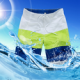 Coole Badeshort Herrenshort in Trendfarben - zur Wahl in 3 Varianten und 4 Größen - 100% Polyester Badehose