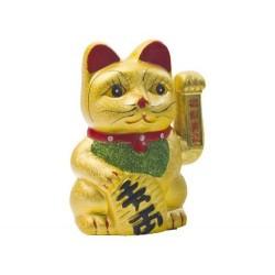 Winkekatze Glücksbringer 23x15cm + Batterien gratis Maneki Neko Feng Shui Katze