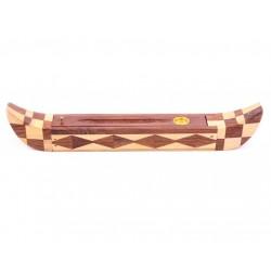 Räucherstäbchen Sheeshamholz Ägyptisches Boot Stäbchenhalter mit Aufbewahrungsbox