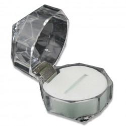 Diamant  Schmuckverpackung  (ca. L 3,7 cm x B 3,7 cm x H 3,7 cm)  Schmuckschachtel, Schmuckdose durchsichtig