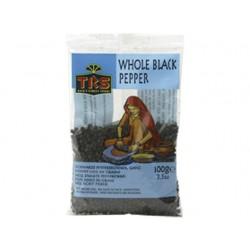 Schwarzer Pfeffer GANZ 100g Black Pepper Whole Pfefferkörner TRS