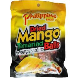Mango Tamarinden Kugeln 100g Süßigkeit kandierte Mango Bällchen mit Tamarinde