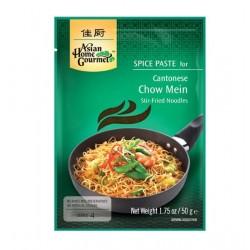 Chow Mein Cantonese Spice Paste Würzpaste mit Rezept gebratene Nudeln 4 Personen