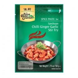 Szechuan Chili Ingwer Knoblauch Gewürzpaste Hot 4Pers. Chilli Ginger Garlic stir fry
