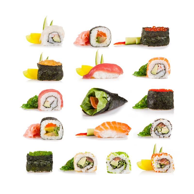 sushipaket 20tlg sparen sie starter sushi set sushiset starterpaket sushikit. Black Bedroom Furniture Sets. Home Design Ideas