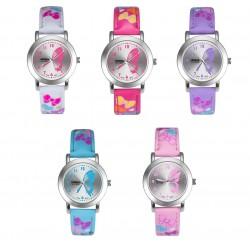 Armbanduhr Damenuhr Mädchenuhr Kinderuhr vers. Farben mit Schmetterlingen