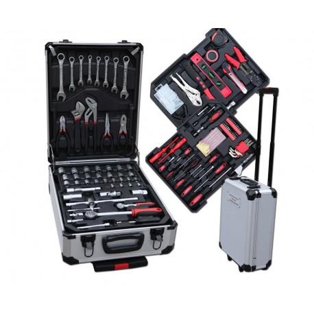 Werkzeug-Komplettset 207tlg, im Alu Trollye, Transportkoffer, CV-Stahl
