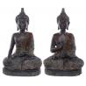 Sitzender Thai Buddha  (30,5x19x12cm) bronzefarben 2 Varianten -  Statue budda Figur