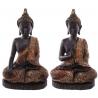 Sitzender Thai Buddha  (30x19x12cm) rotes Gewand 2 Varianten -  Statue budda Figur