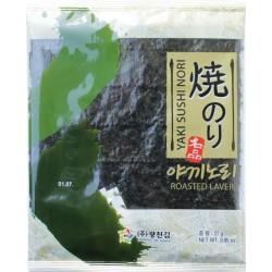 Yaki Sushi Nori Algen Grün 27g 10 Blätter Südkorea Sushiblätter Seetang geröstet algenblätter