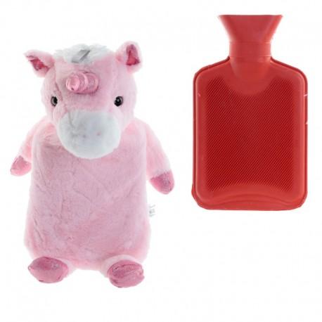 Wärmflasche Einhorn 1L Bettflasche Unicorn Wärmeflasche Kuschel Einhorn
