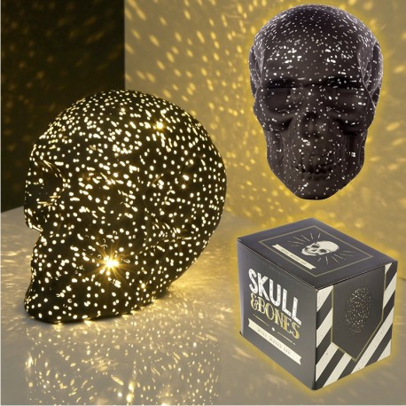 LED Totenkopf Sternenlicht Skull Totenschädel inkl. 4 Batterien gothic schädel (15x12x19)