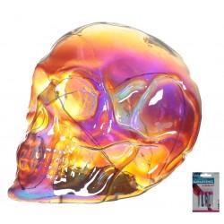 LED Totenkopf Skull Totenschädel inkl. 4 Batterien Coole Deko gothic schäde (13x12x17)