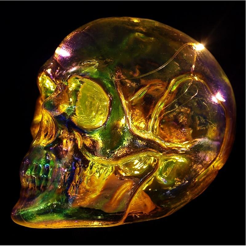c74e20b86d3dc5 ... LED Totenkopf Skull Totenschädel inkl. 4 Batterien Coole Deko gothic  schäde (13x12x17) ...