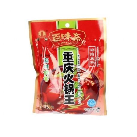 Hot Pot Sichuan Sauce Paste für Chinesisches Fondue 200g Szechuan Würzsauce Feuertopf