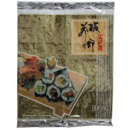 Yaki Sushi Nori Algen 25g 10 Blätter aus JAPAN Sushiblätter Seetang geröstet algenblätter