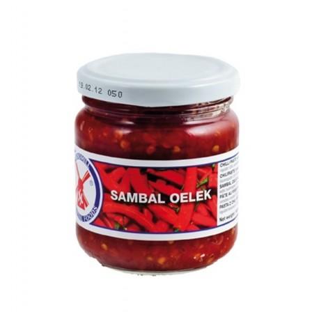 Sambal Oelek200g Glas, sehr scharfe Paste aus Chilischoten hot Chilli spicy chili olek