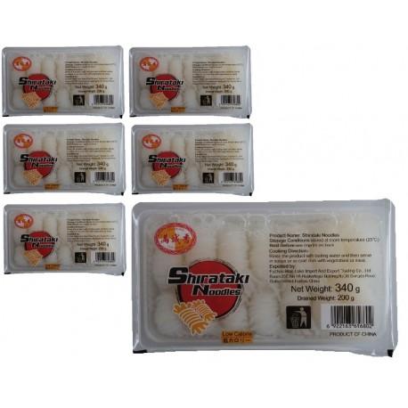 6x Konjak Shirataki Noodles a 340g/200g kalorinarme Nudeln Low Carb